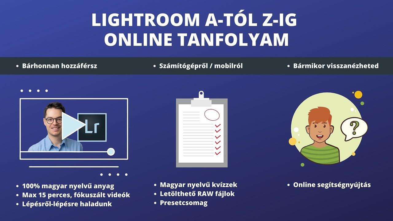 online magyar Lightroom tanfolyam összesítő