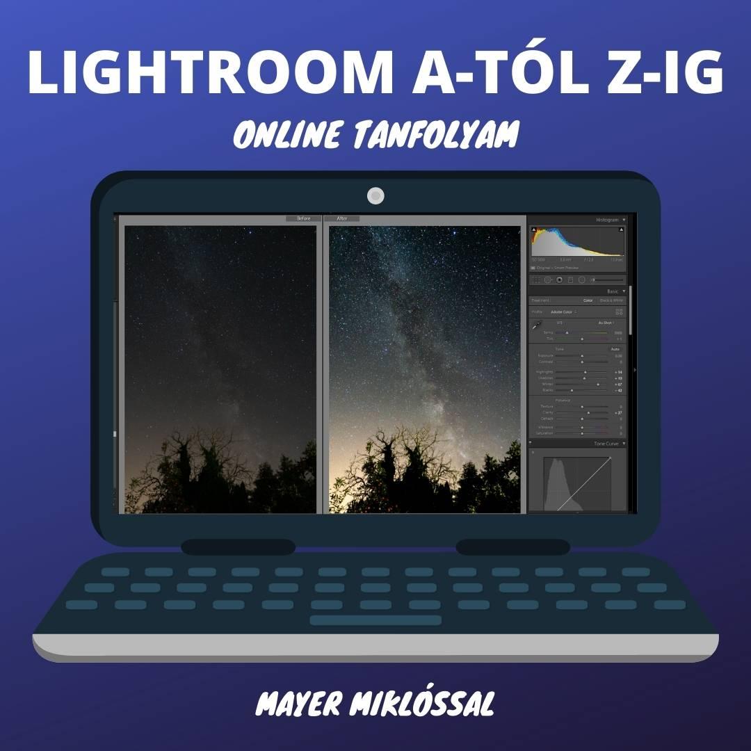 online Adobe Lightroom tanfolyam