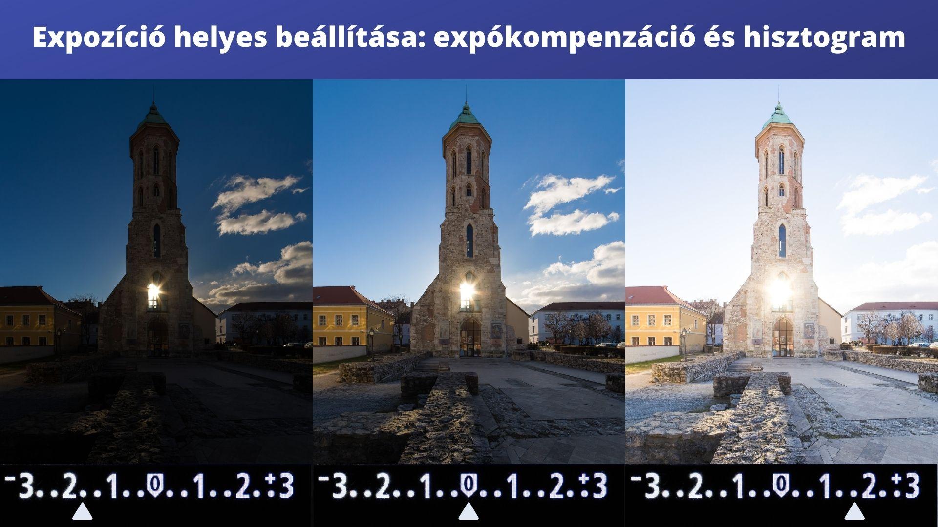 expozíció kompenzáció fényképezőgépek dslr