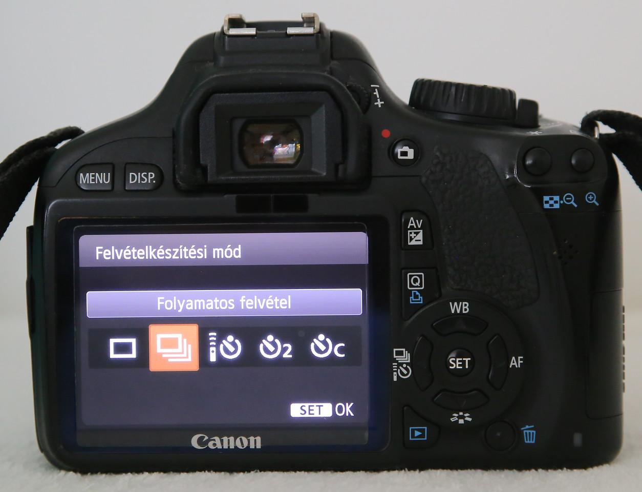 canon felvételkészítési módok