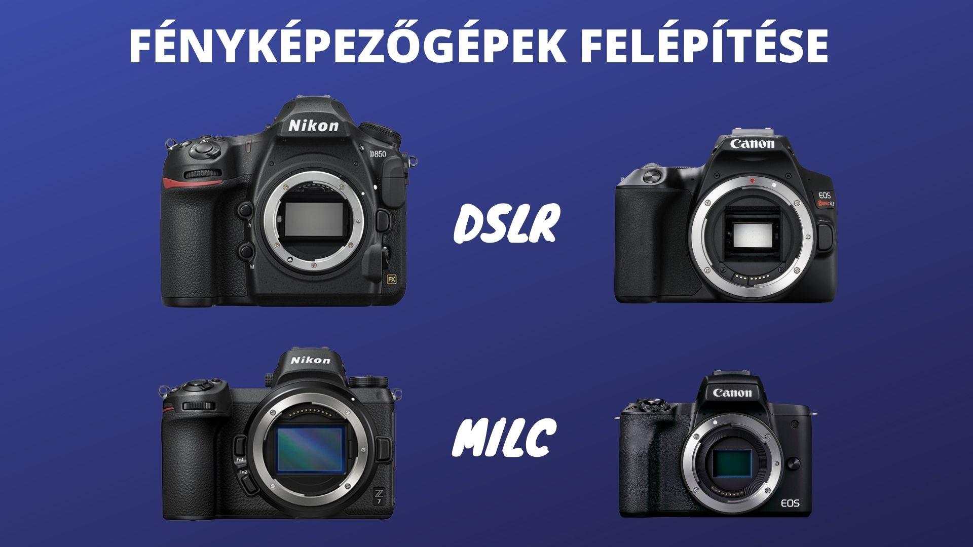 fényképezőgépek felépítése dslr milc
